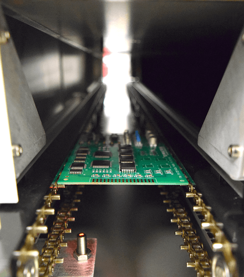 Inside View of the Delta Therm Conveyor
